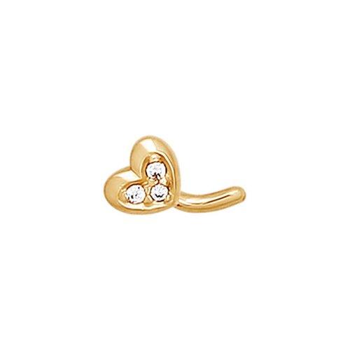 картинка золотое украшение для пирсинга носа 060175