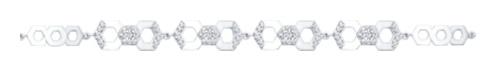 картинка браслет из серебра 925° с фианитом 94050388