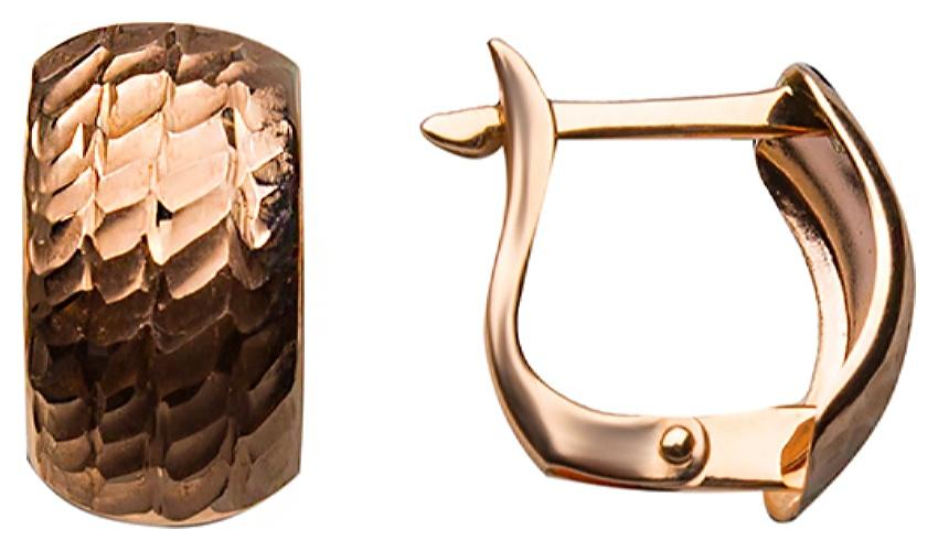 картинка серьги из золота 585° с фианитом АС-593