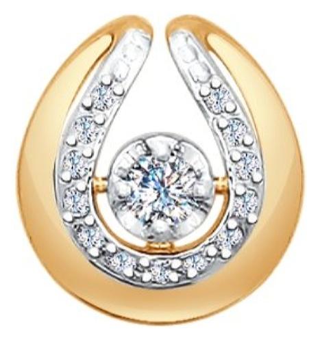 картинка подвеска из золота 585° с бриллиантом 1030592