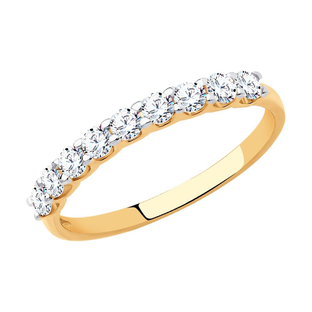 картинка кольцо из золота с фианитами 017169