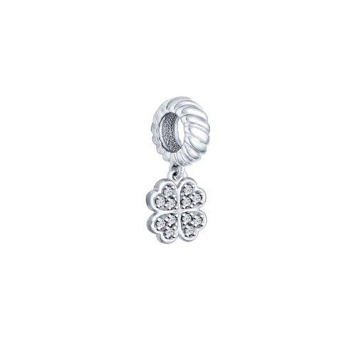 картинка подвеска-шарм из серебра «клевер» 94031627