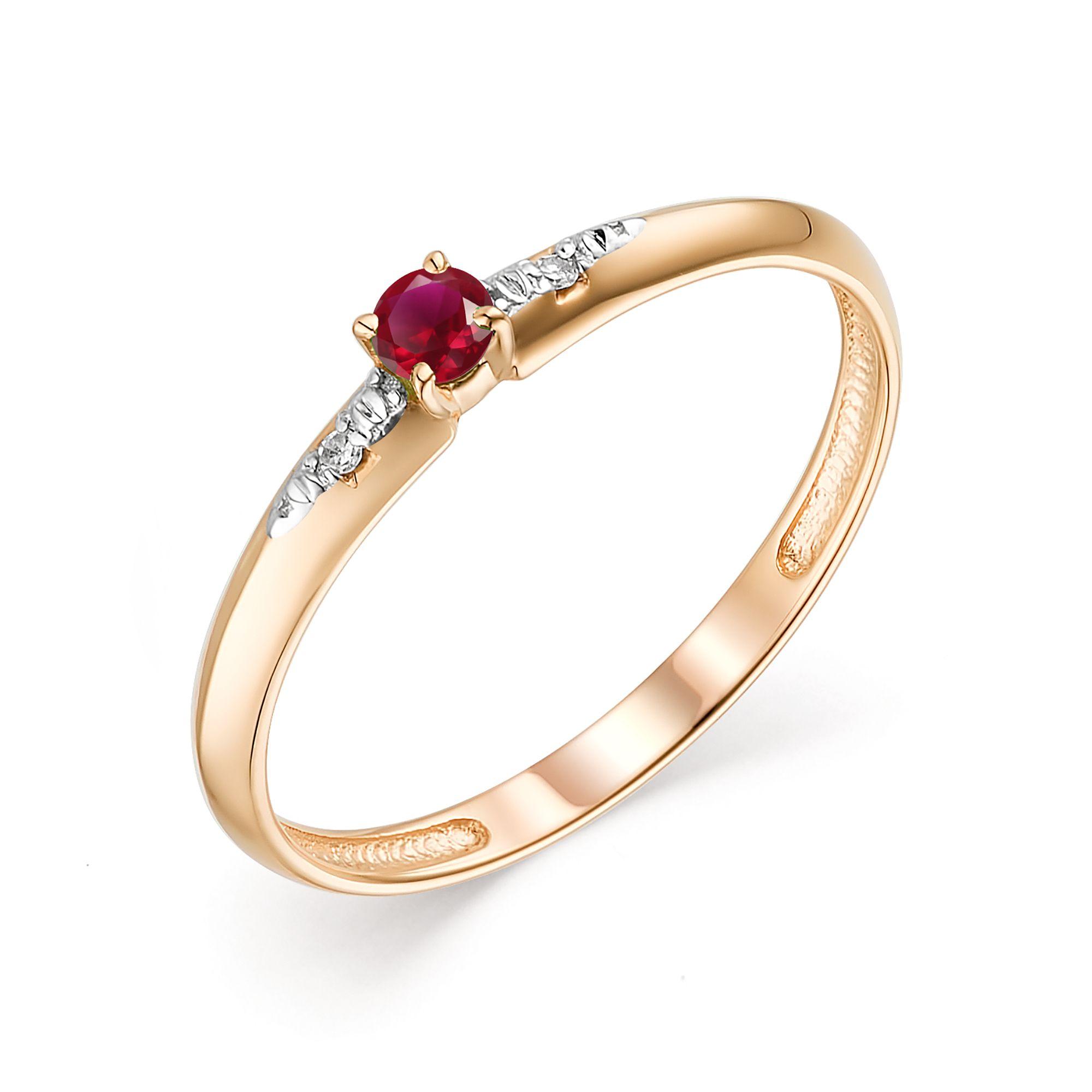 картинка кольцо 13621-103 1 рубин   круг 0,118 2,7 2/2, 2 бриллиант круг 17 0,009 200-400 2/3а 13621-103