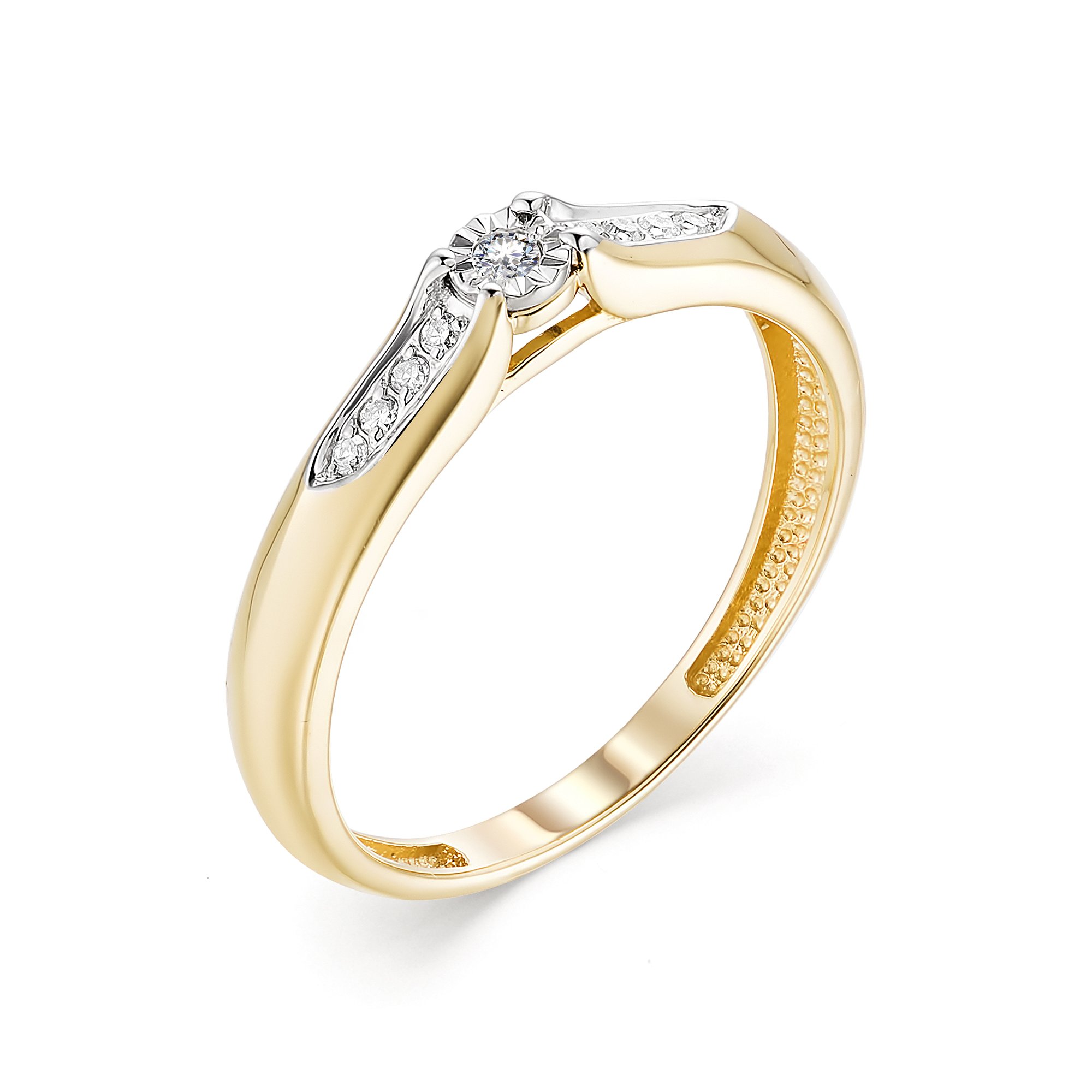 картинка кольцо 13319-300 1 бриллиант круг 17 0,020 40-60 2/3а, 8 бриллиант круг 17 0,042 200-400 2/3а 13319-300