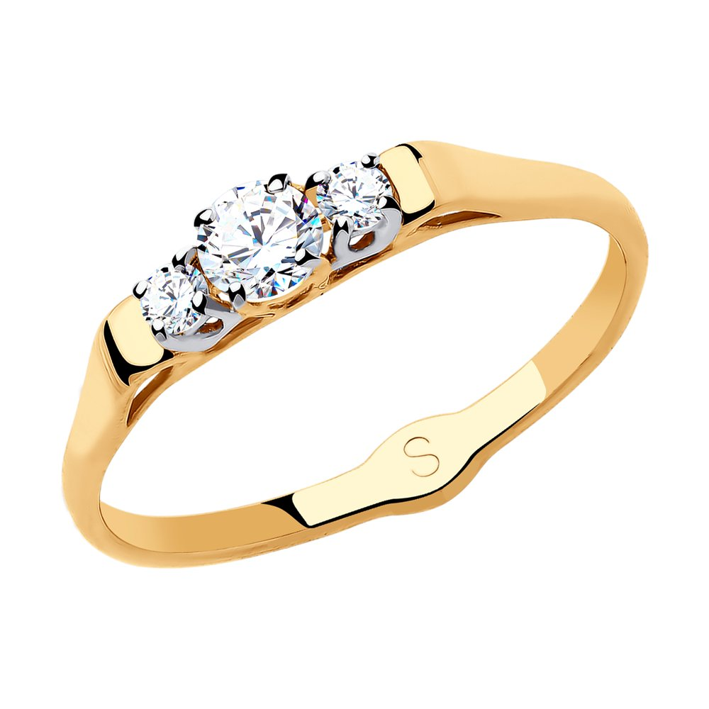 картинка кольцо из золота с фианитами 017937