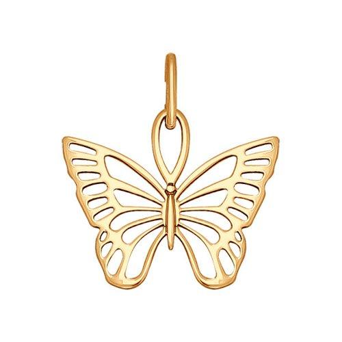 картинка подвеска из золота «бабочка» 034625