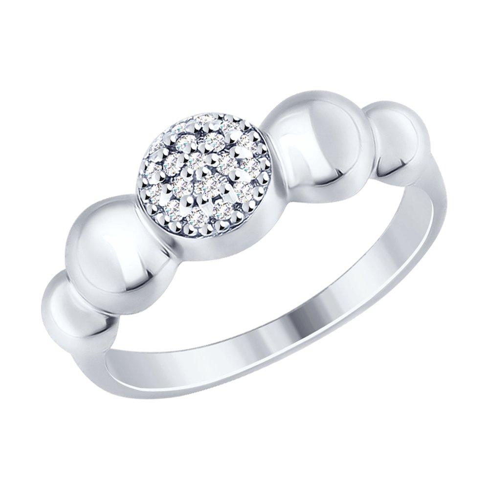 картинка кольцо из серебра с фианитами 94012468
