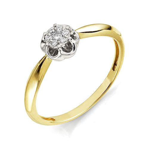 картинка кольцо 11055-300 1 бриллиант круг 57 0,022 40-60 4/5а, 6 бриллиант круг 57 0,047 120-200 4/5а 11055-300