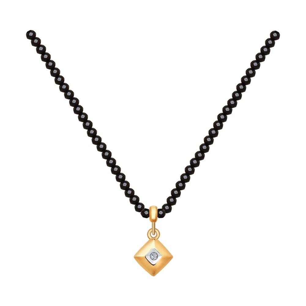 картинка колье из золота с бриллиантом 1070068