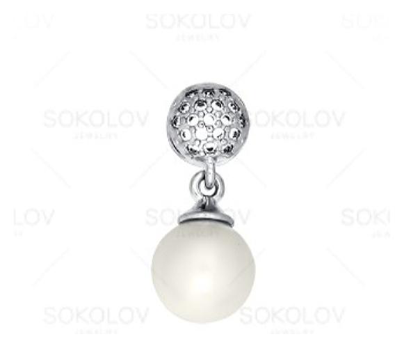 картинка подвеска из серебра 925° с жемчугом 94031175