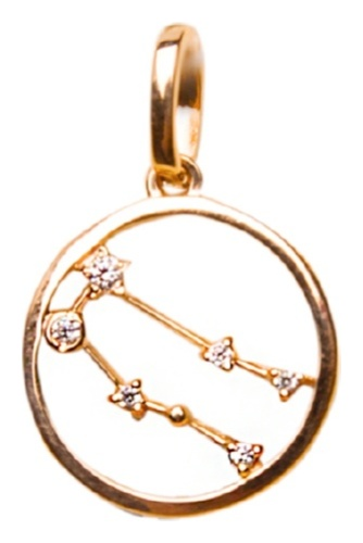 картинка подвеска из золота 585° с фианитом 121-1295