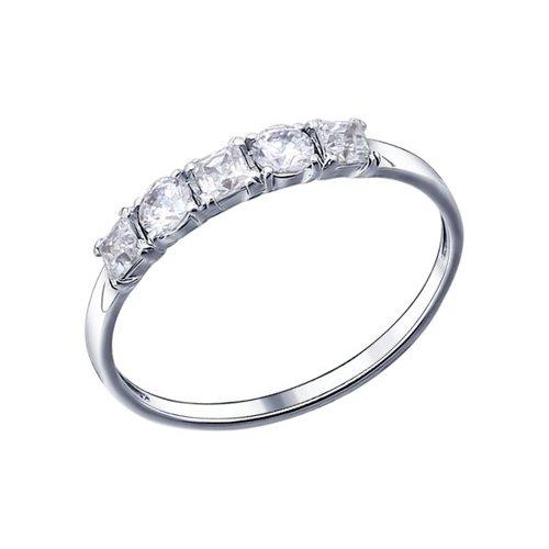 картинка кольцо из серебра с фианитами 94011486
