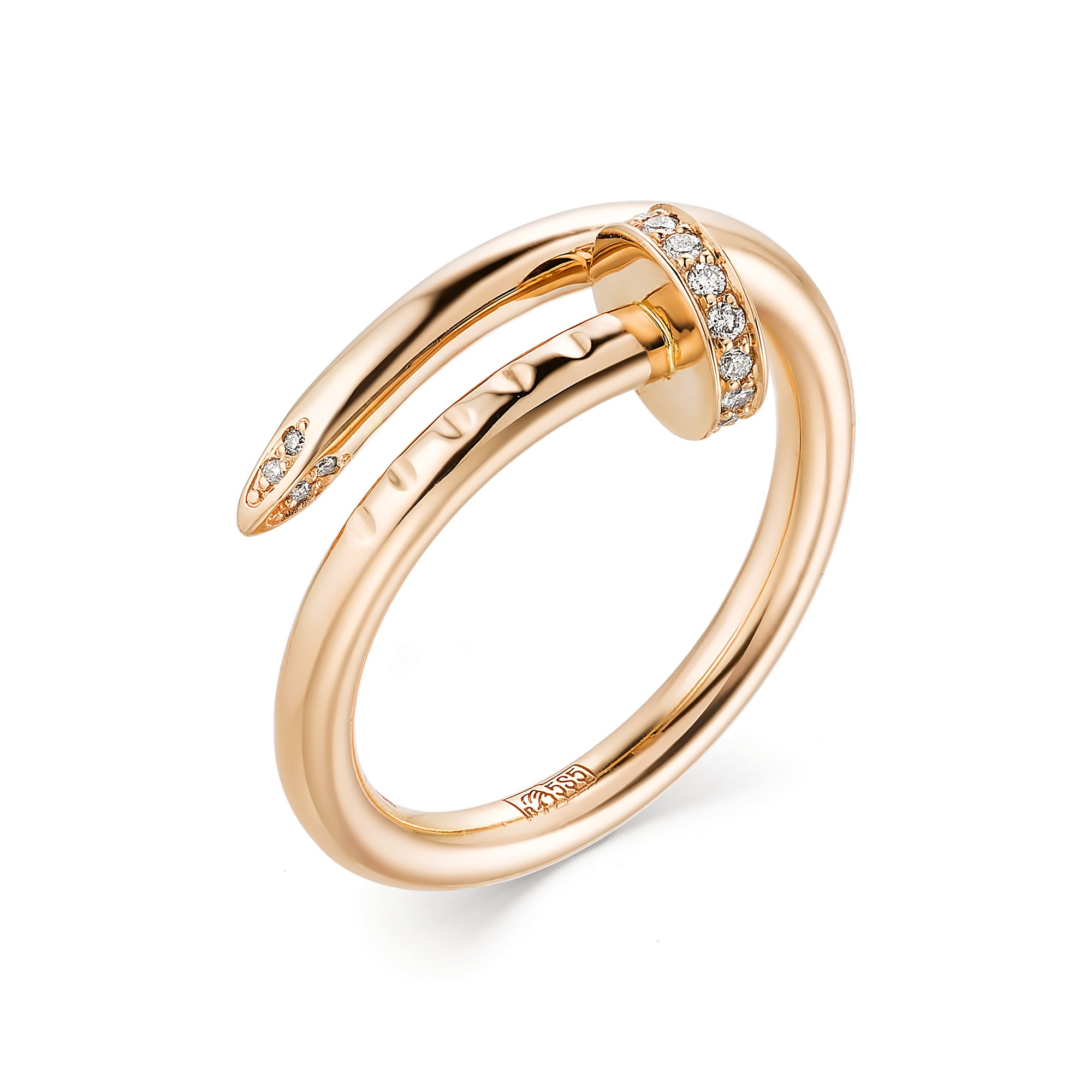 картинка кольцо 12998-100 13 бриллиант круг 57 0,091 120-200 4/5а, 8 бриллиант круг 57 0,022 200-400 4/5а 12998-100