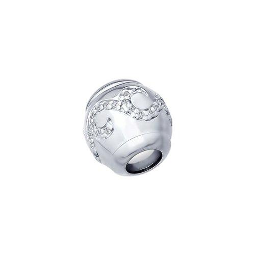 картинка подвеска-шарм из серебра с фианитами 94031667