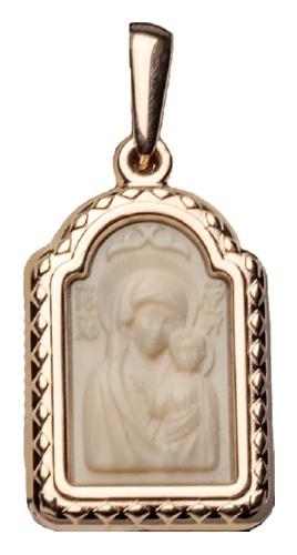 картинка подвеска из золота 585° с поделочным камнем 03-2585-00-292-1110-46