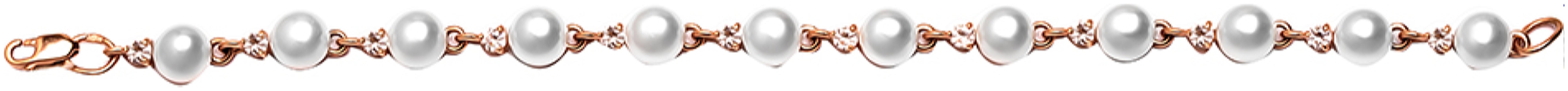 картинка браслет из золота 585° с жемчугом 5551101