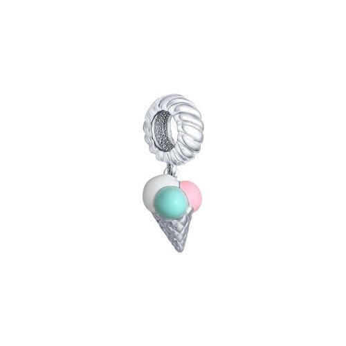 картинка подвеска-шарм из серебра «мороженое» 94031684