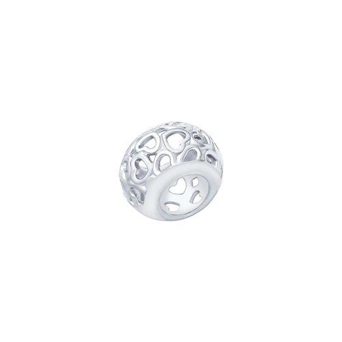 картинка шарм из серебра «открой своё сердце» 94031589