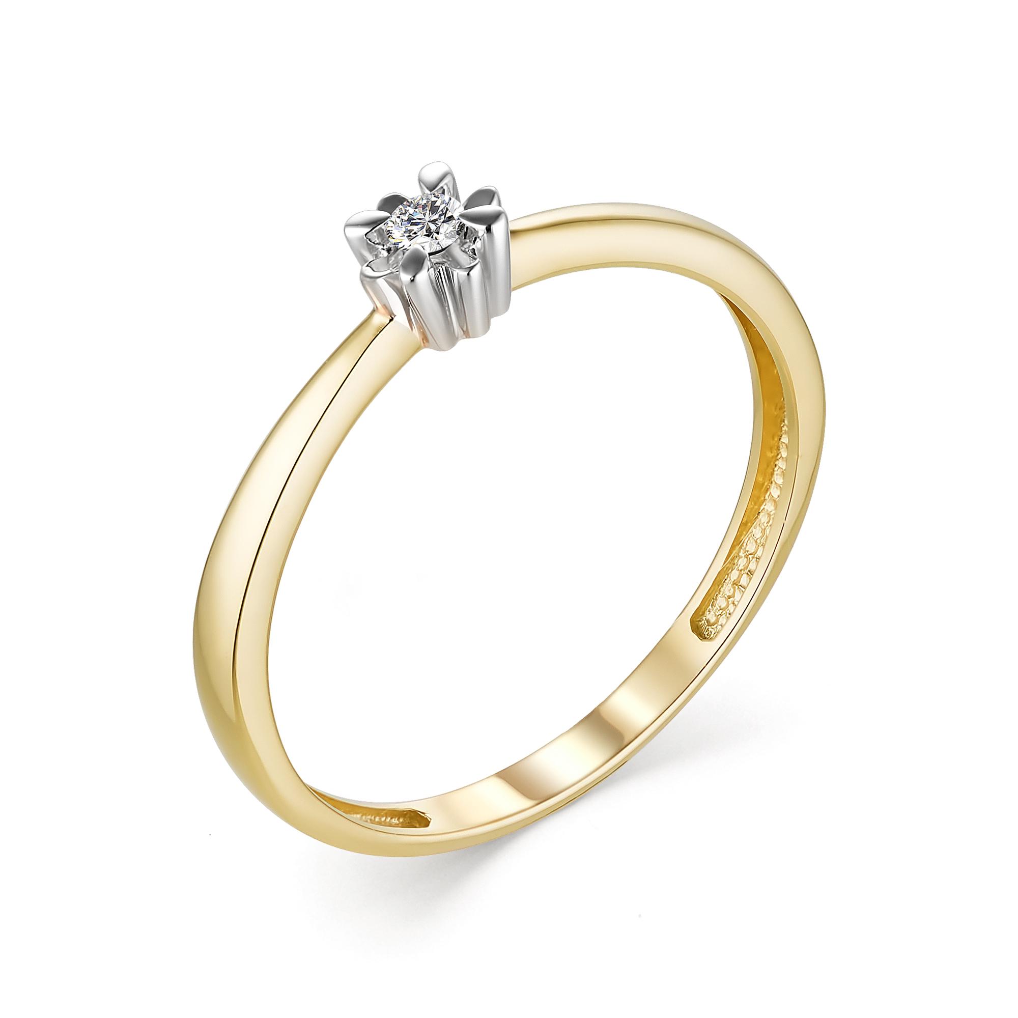 картинка кольцо 13273-300 1 бриллиант круг 57 0,038 25-30 3/6а 13273-300