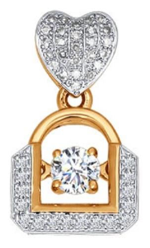 картинка подвеска из золота 585° с бриллиантом 6036009