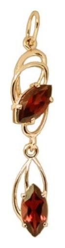 картинка подвеска из золота 585° с аметистом 300-036