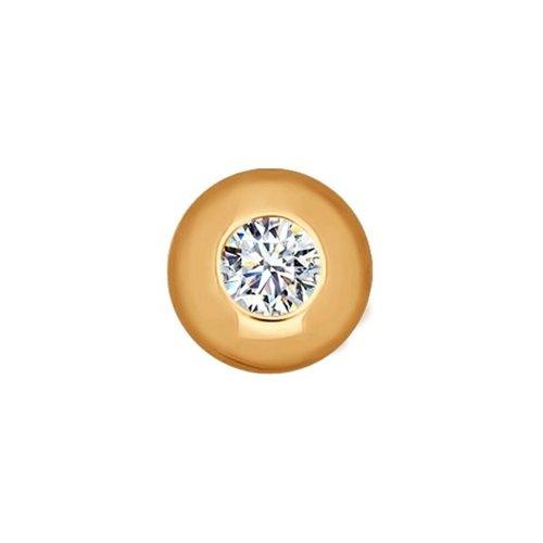 картинка подвеска-шарм из золота с фианитом 034772