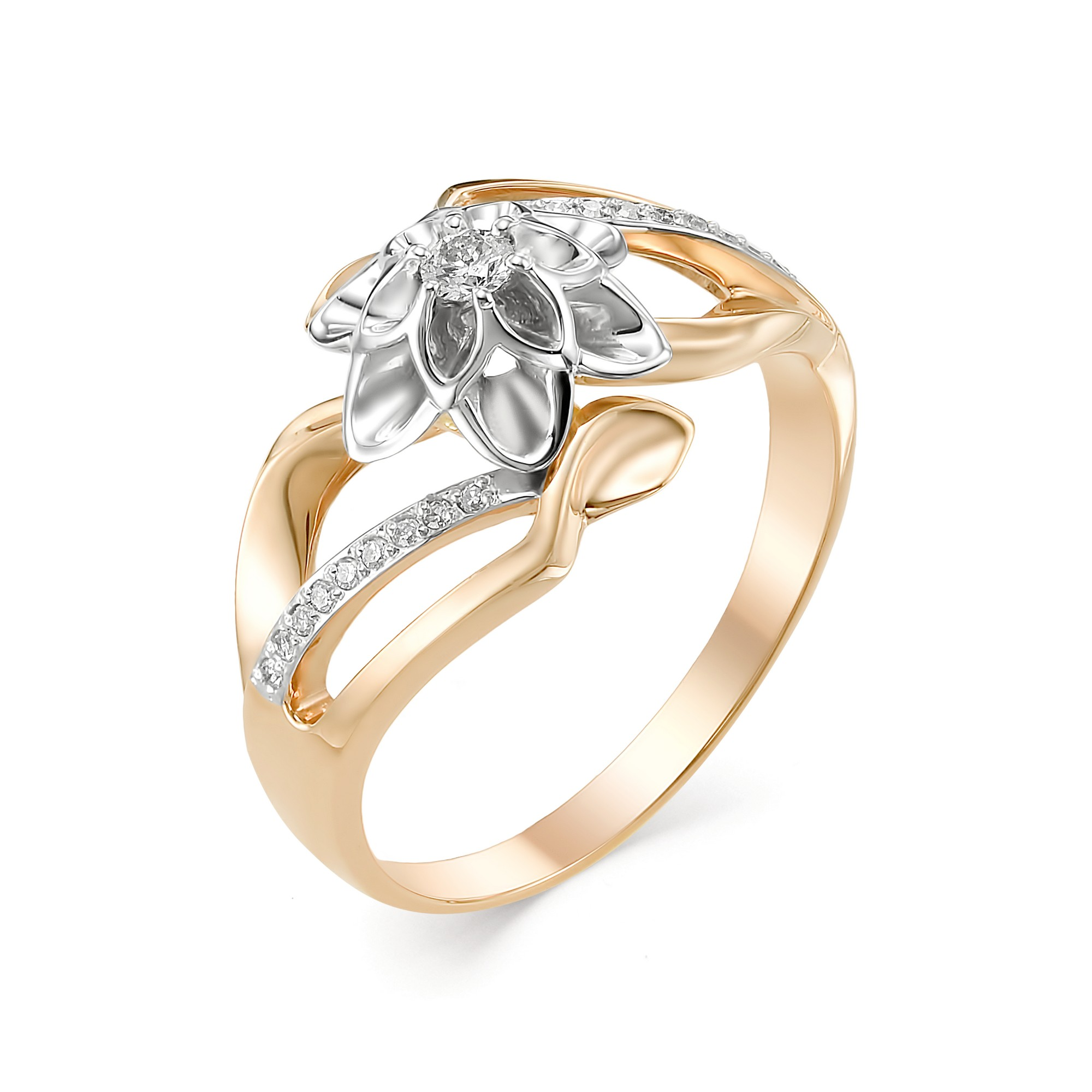 картинка кольцо 12547-100 1 бриллиант круг 57 0,062 15-20 3/6а, 18 бриллиант круг 17 0,055 200-400 2/3а 12547-100