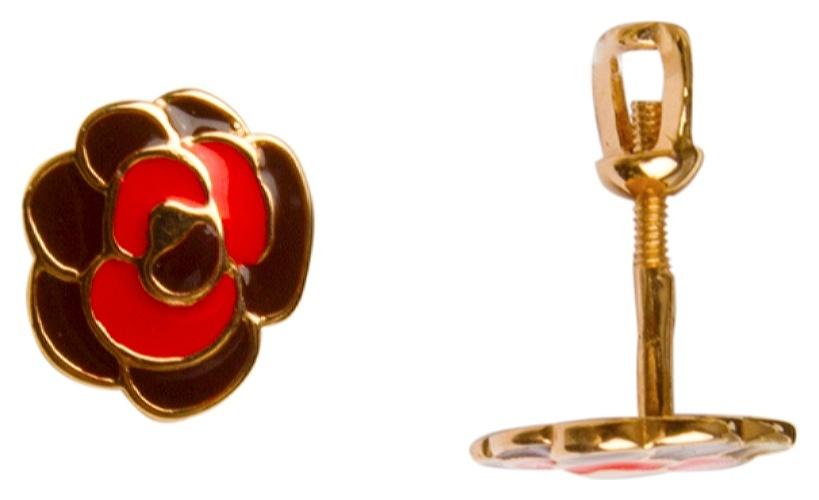 картинка серьги из золота 585° с эмалью ДК-053