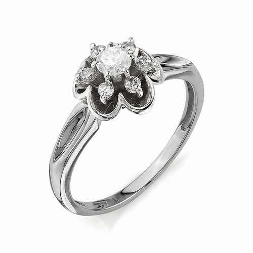 картинка кольцо 11050-200 1 бриллиант круг 57 0,199 5-6 4/5а, 6 бриллиант круг 57 0,110 40-60 4/5а 11050-200
