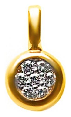 картинка подвеска из золота 585° с бриллиантом ЗПД-90675