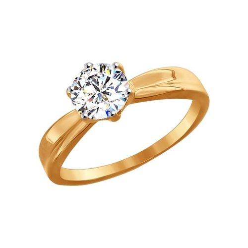 картинка помолвочное кольцо из золота со swarovski zirconia 81010252