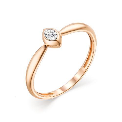 картинка кольцо 13525-100 1 бриллиант круг 17 0,006 200-400 2/3а 13525-100
