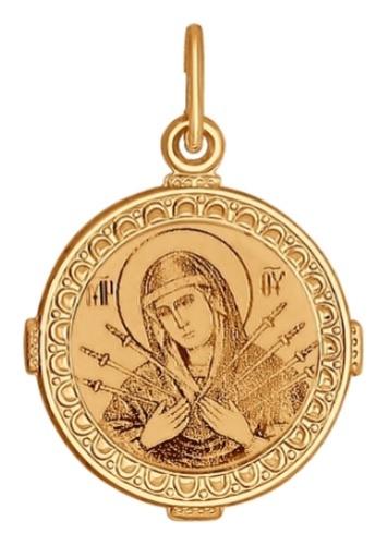 картинка подвеска из золота 585° с эмалью 101057