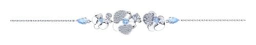 картинка браслет из серебра 925° с фианитом 94050532