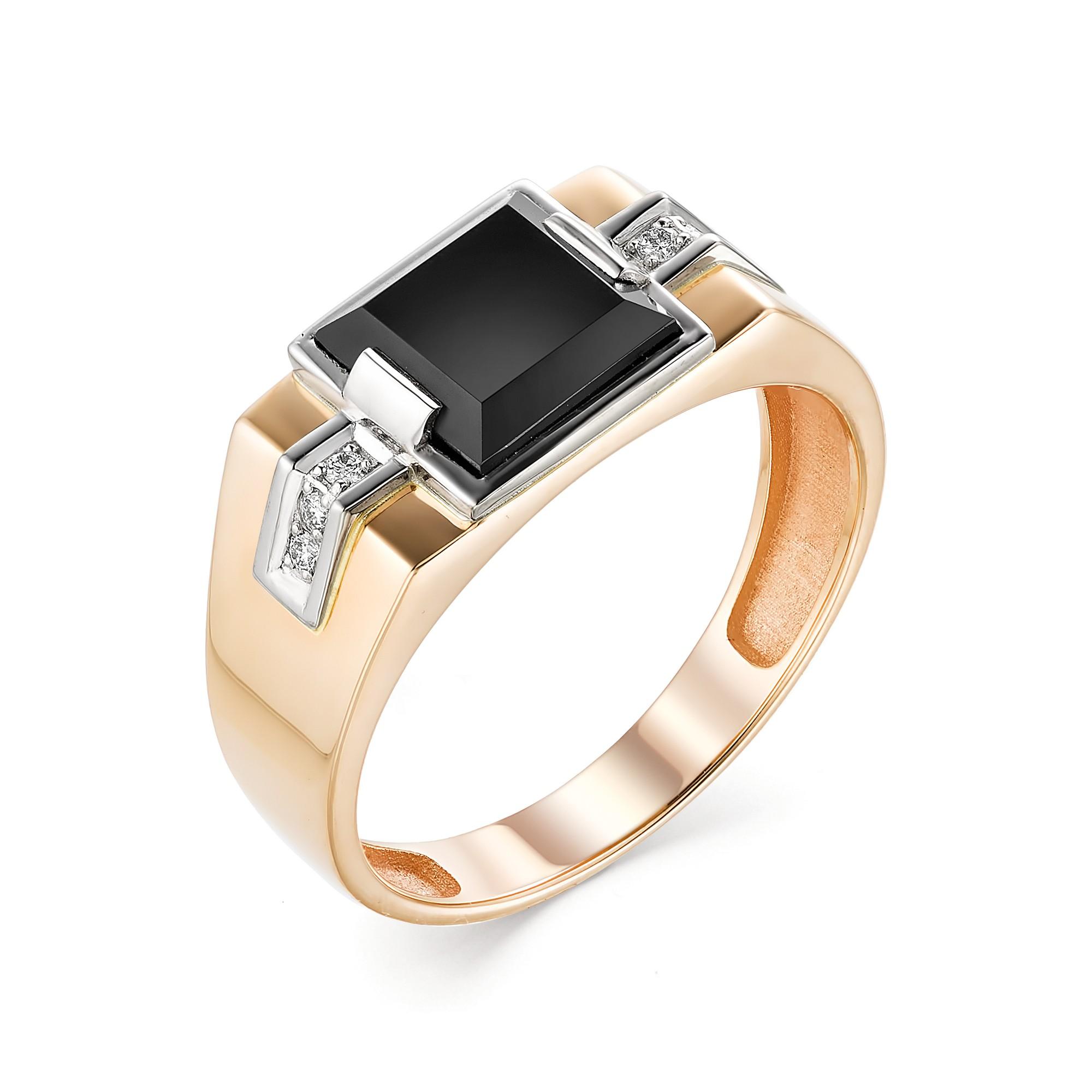 картинка кольцо 13207-111 1 оникс квадрат 1,600 8х8 , 6 бриллиант круг 57 0,060 90-120 4/5а 13207-111