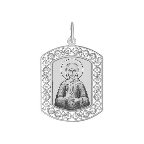 картинка иконка из серебра с лазерной обработкой 94100210