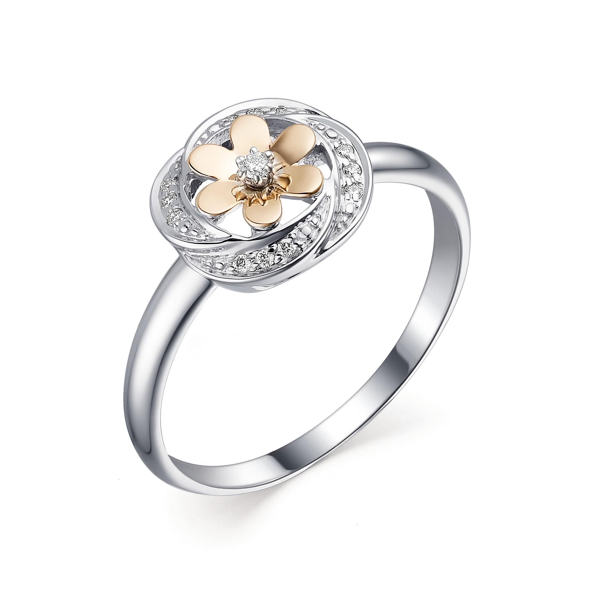 картинка кольцо 13434-100 1 бриллиант круг 57 0,011 60-90 4/5а, 12 бриллиант круг 57 0,035 200-400 4/5а 13434-100