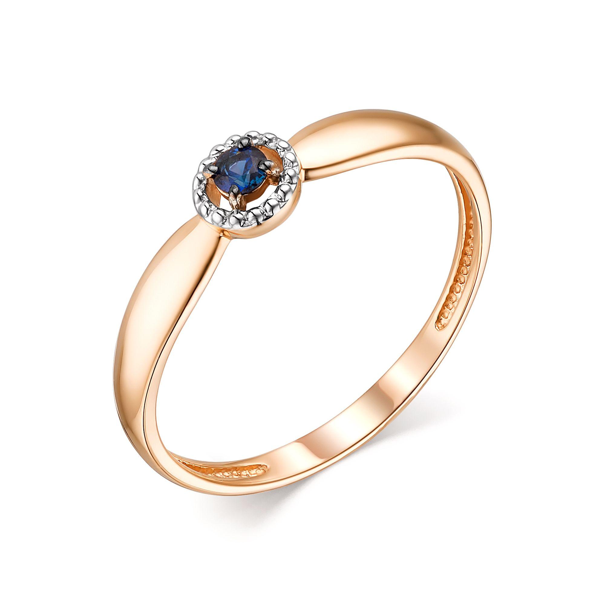 картинка кольцо 13763-102 1 сапфир  круг 0,083 2,5 2/2 13763-102