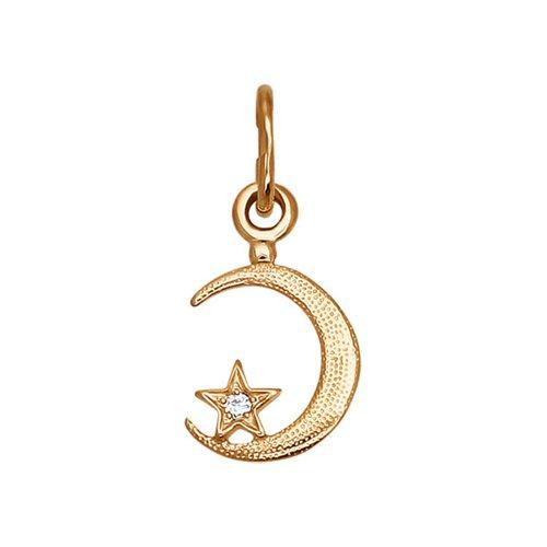 картинка подвеска мусульманская из золота с фианитом 030053