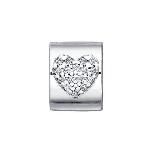 картинка подвеска-шарм из серебра с фианитами 94030651