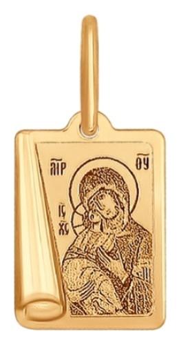 картинка подвеска из золота 585° 104001