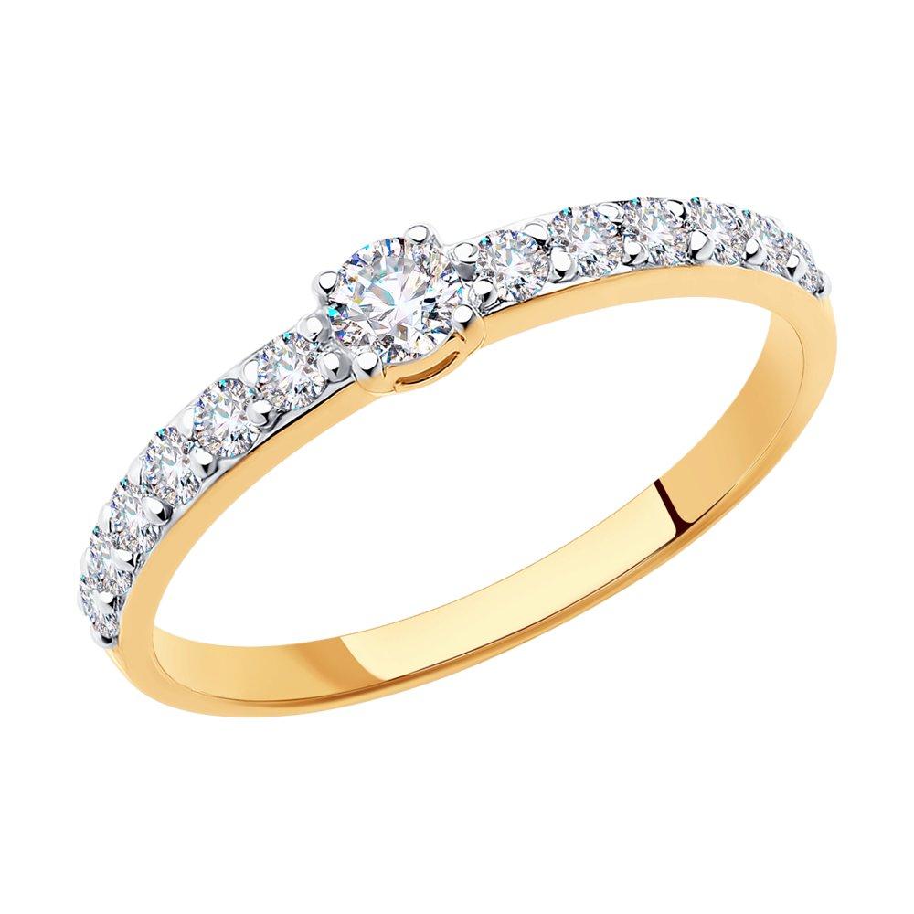 картинка помолвочное кольцо из золота со swarovski zirconia 81010230
