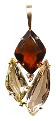 картинка подвеска из лимонного золота 750° (микс) Y0871COQ.P1