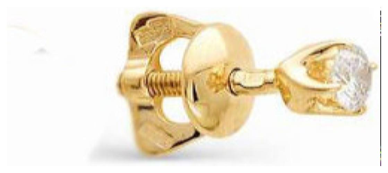 картинка серьги из золота 585° с бриллиантом 2235-100