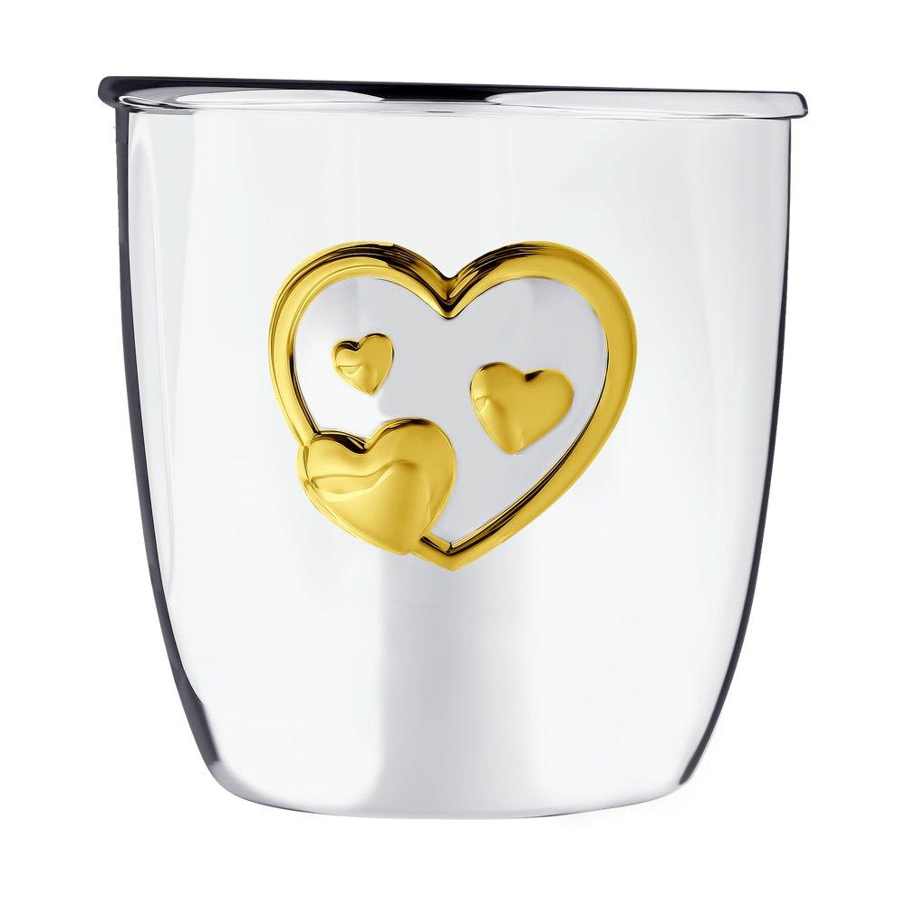 картинка стаканчик «сердце» ,  позолота 2302010036