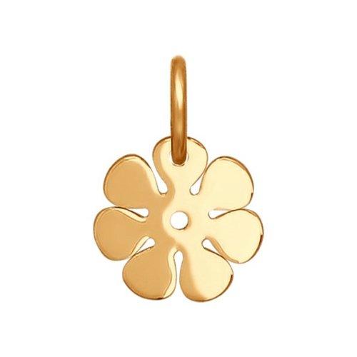 картинка подвеска-цветок из золота 034682