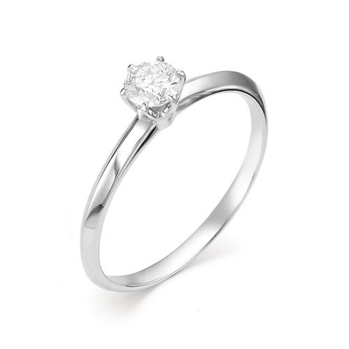 картинка кольцо 12355-200 1 бриллиант круг 57 0,283 3,4-4 4/6а 12355-200