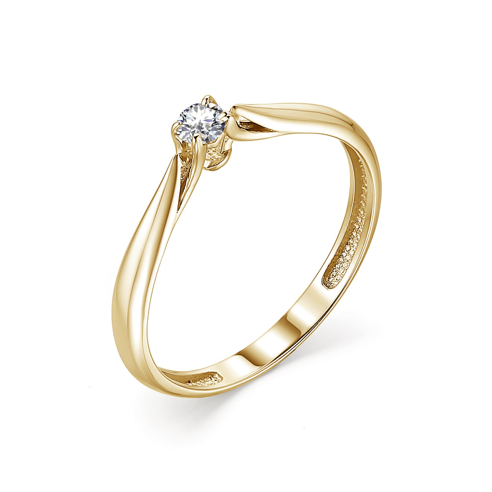картинка кольцо 13341-300 1 бриллиант круг 57 0,085 10-15 4/6а 13341-300