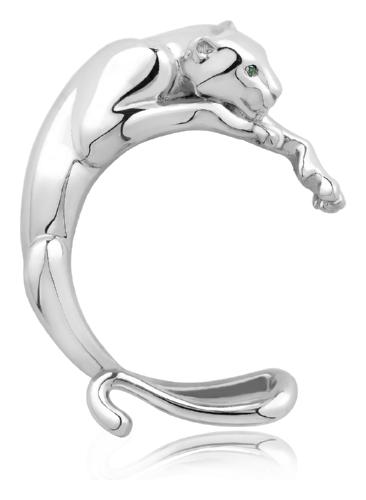 картинка накладка из серебра 925° с фианитом 8600.50.9