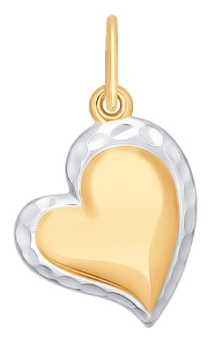 картинка подвеска из золота 585° 035036